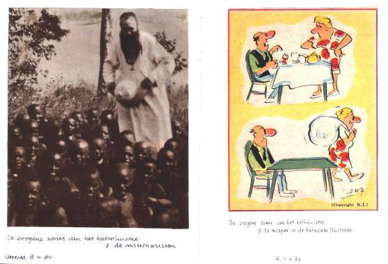 """links: de erogene zones van het katholicisme - 2 de missionarissen rechts: de erogene zones van het katholicisme - 3 de moppen in de """"katholieke illustratie"""""""