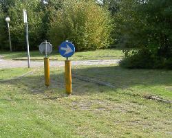 gras op het fietspad...