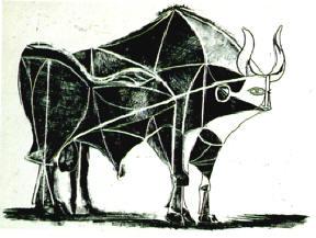 hier gaat het puur om de vorm van de stier...