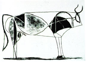 de sierlijkheid van een stier gevangen...