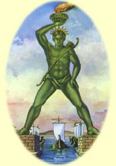 de kolos van Rhodos