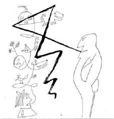 een typische steinberg-cartoon
