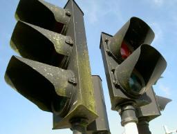groene stoplichten...