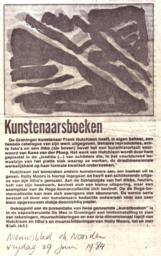 krantenstukje uit 1984
