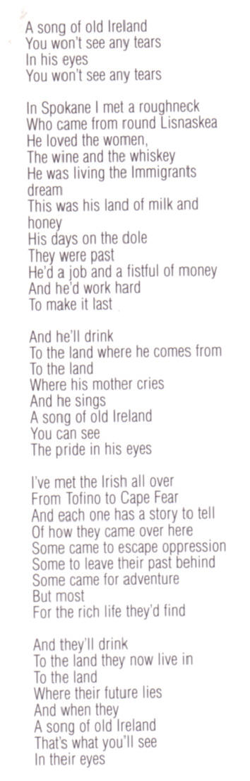song of old ireland - deel 3