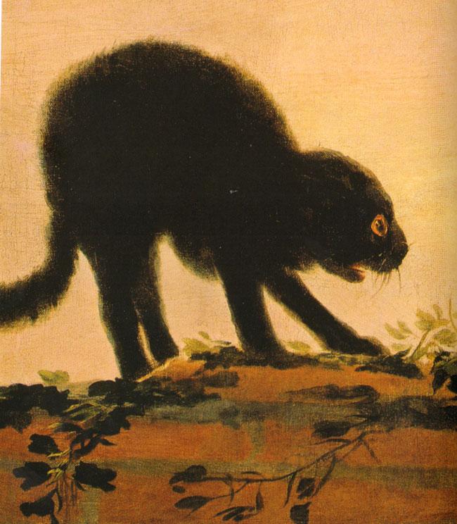 een van de twee ruziënde katten van fransisco goya