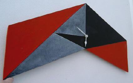 roodzwarte klok