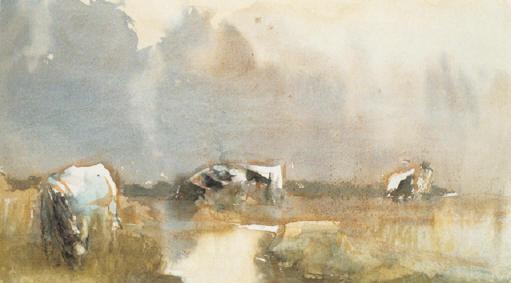 koeien bij de kreek