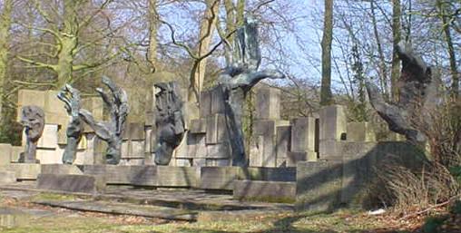 de zes handen van het monument van waskowsky