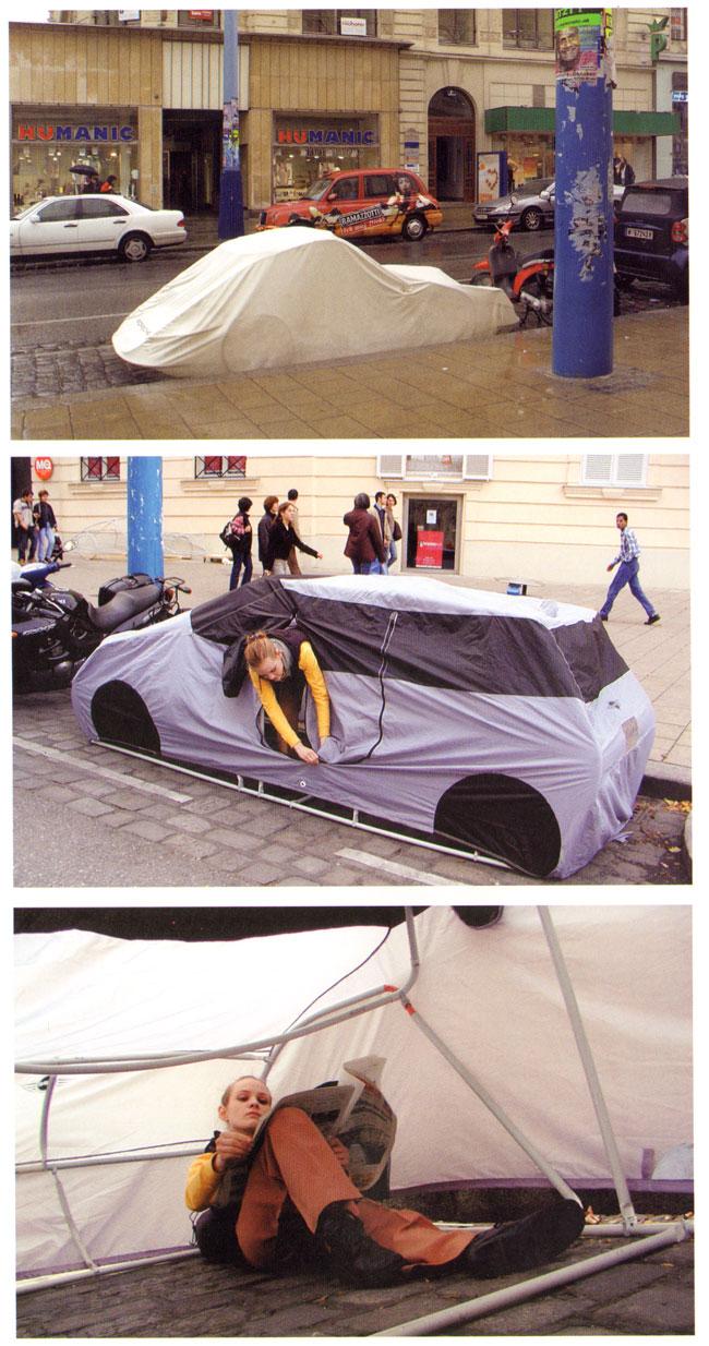 het kapen van een parkeerplaats...