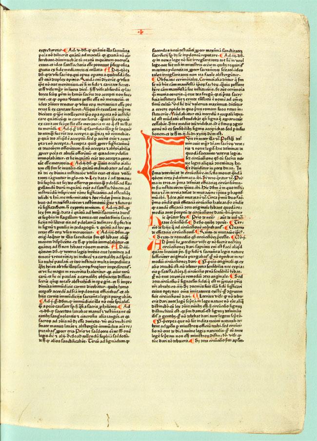 het oudste gedrukte boek in de librije...