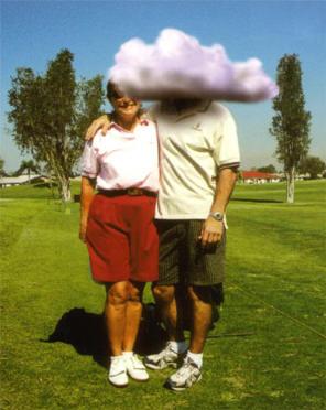met het hoofd in de wolken...