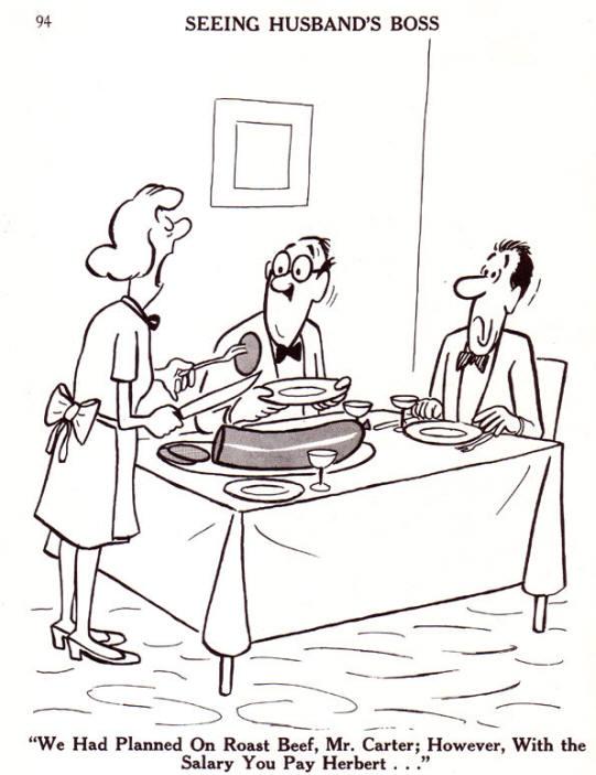 we hadden biefstuk gepland, meneer carter, maar ja, met het salaris dat u herbert betaalt...