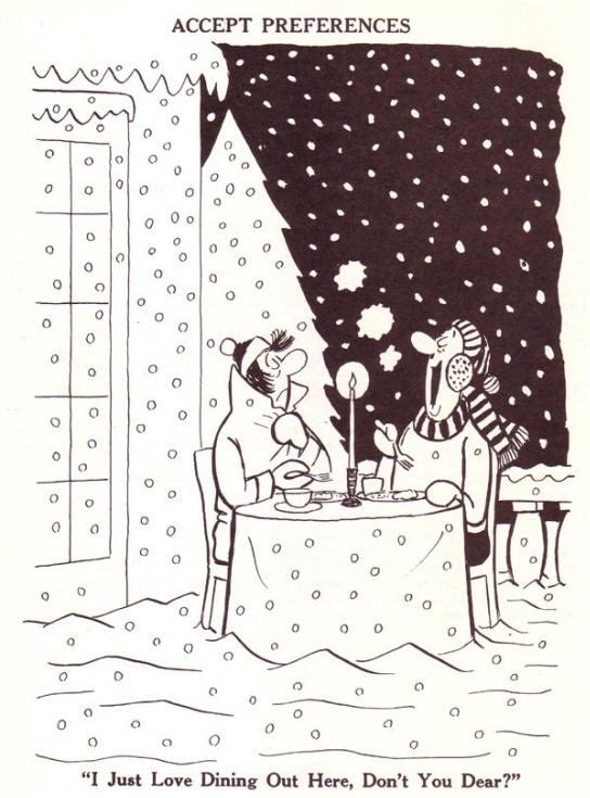 ik vind het heerlijk hier buiten te dineren, jij niet schat?...