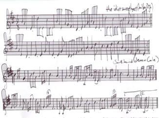 stukje partituur