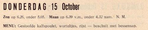 menutip voor 15 oktober