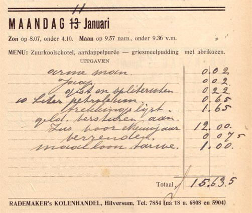 uitgaven in 1936...
