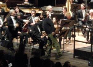 componist gordon na het concert...