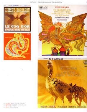 pagina met verschillende hoezen voor le coq d'or...