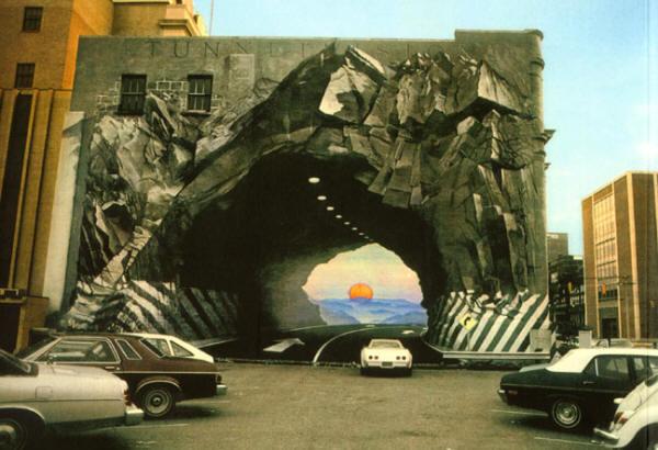 de suggestie van een tunnel...
