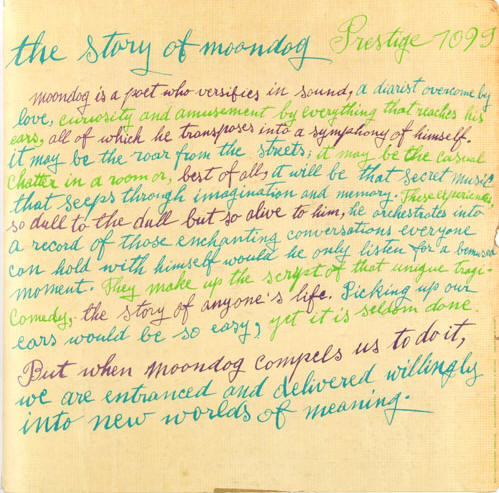 the story of moondog...