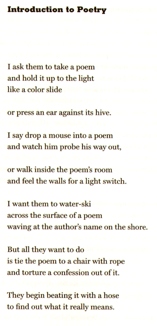 introduction to poetry...