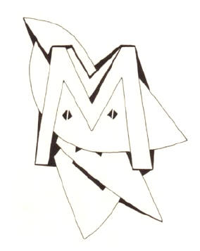 de letter m...