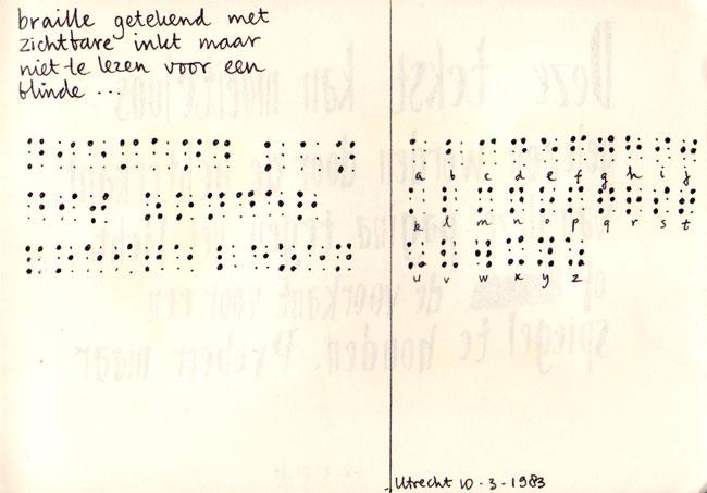 braille, maar functieloos