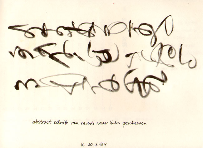 calligrafisch kunstwerkje