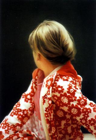 voorzichtig portret van zijn dochter betty