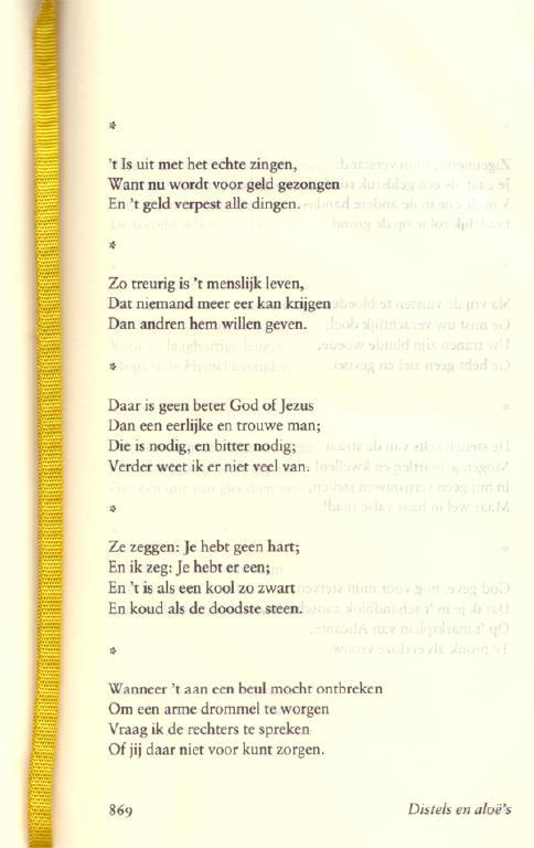 een willekeurige bladzijde uit de verzamelde gedichten...