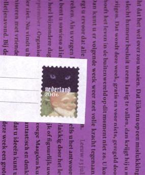 pakpapier en deel van de adressticker...