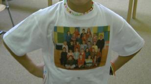 de hele klas op een t-shirt...