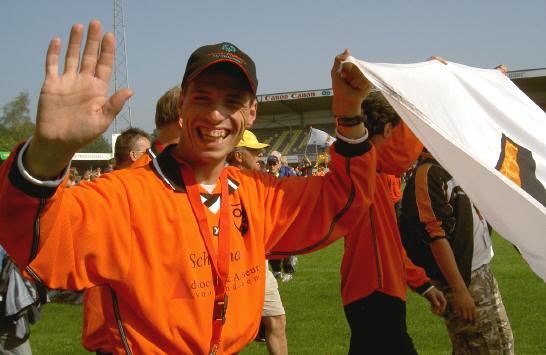 voetballer Richard de Jonge...