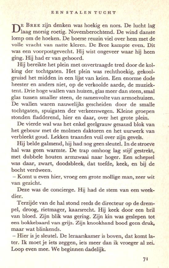 de eerste pagina van bint...