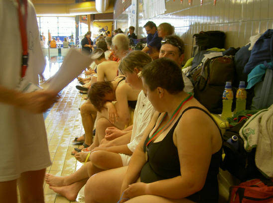 zwemster met medaille