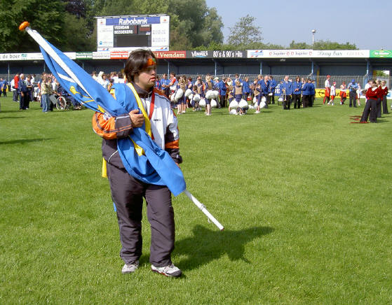 eenzame vlagdrager