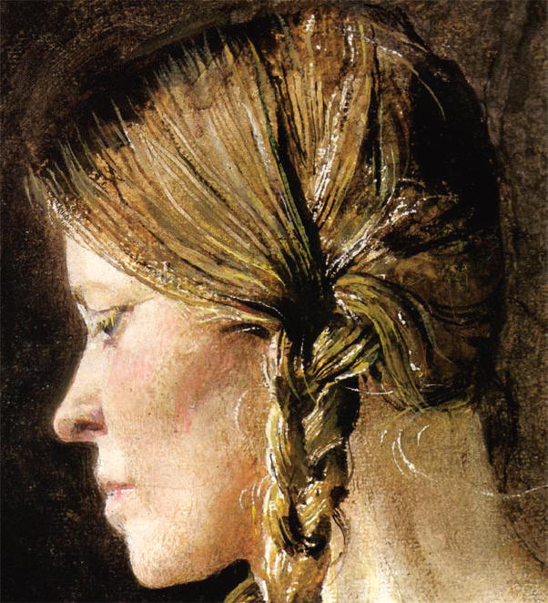detail - haar hoofd...