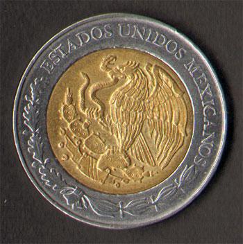 achterkant mexico 5 dollar
