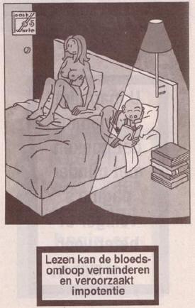 lezen veroorzaakt impotentie...