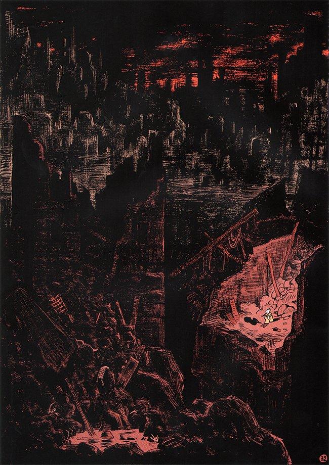 ingestorte stad