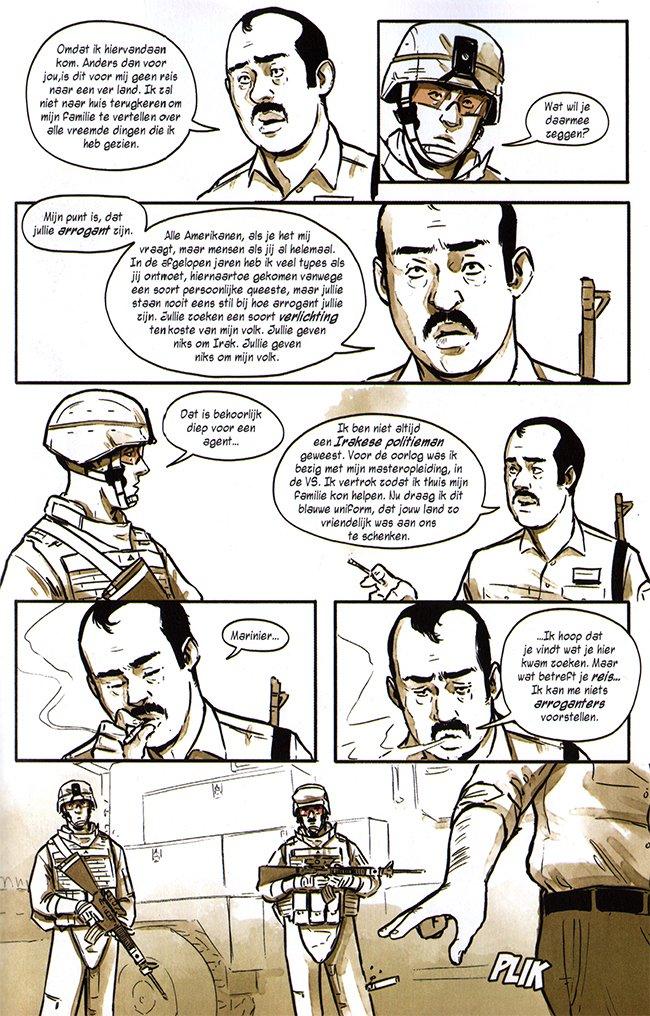 gesprek met een irakese politieagent