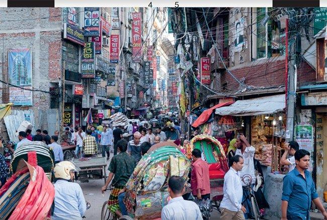 stadsleven in bangladesh