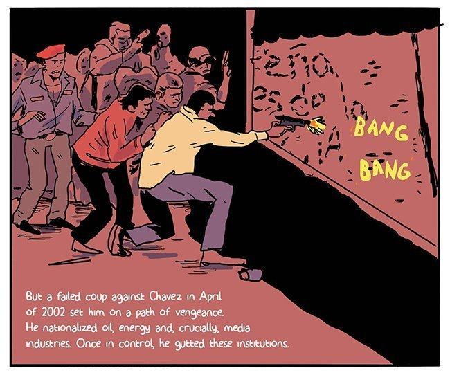 chavez reageerde hevig op een mislukte coup in 2002