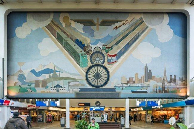 Amsterdam Amstel, muurschildering Peter Alma