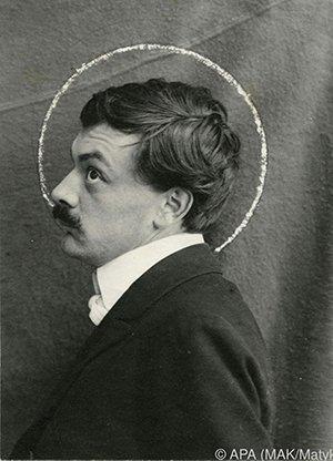 Koloman Moser op Portretfotografie (rond 1903)