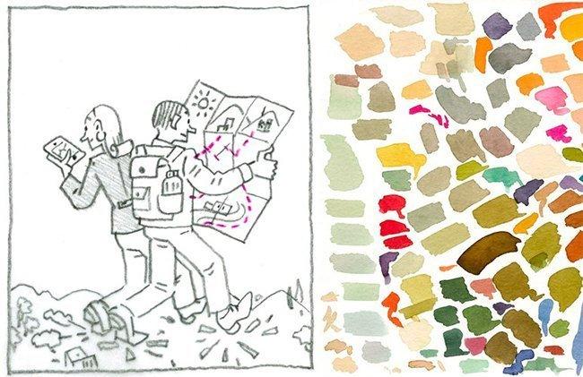 schetsen voor new yorker omslag