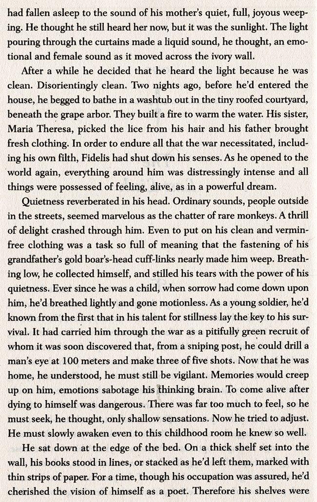 his mother's quiet, full, joyous weeping...
