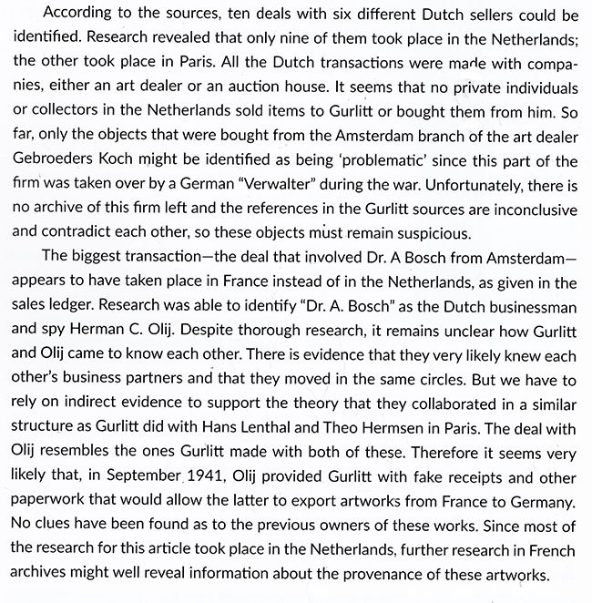 Gurlitt's kunstdeals in Nederland