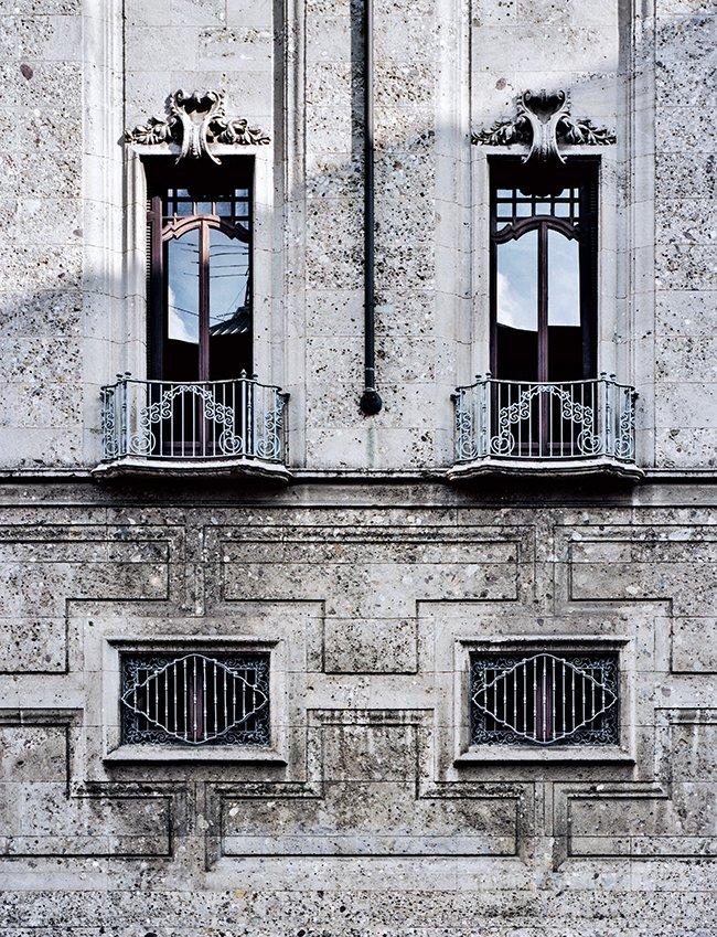 Portaluppi Filatura Cascami Seta gebouw gebouw -1924 - detail van de voorgevel